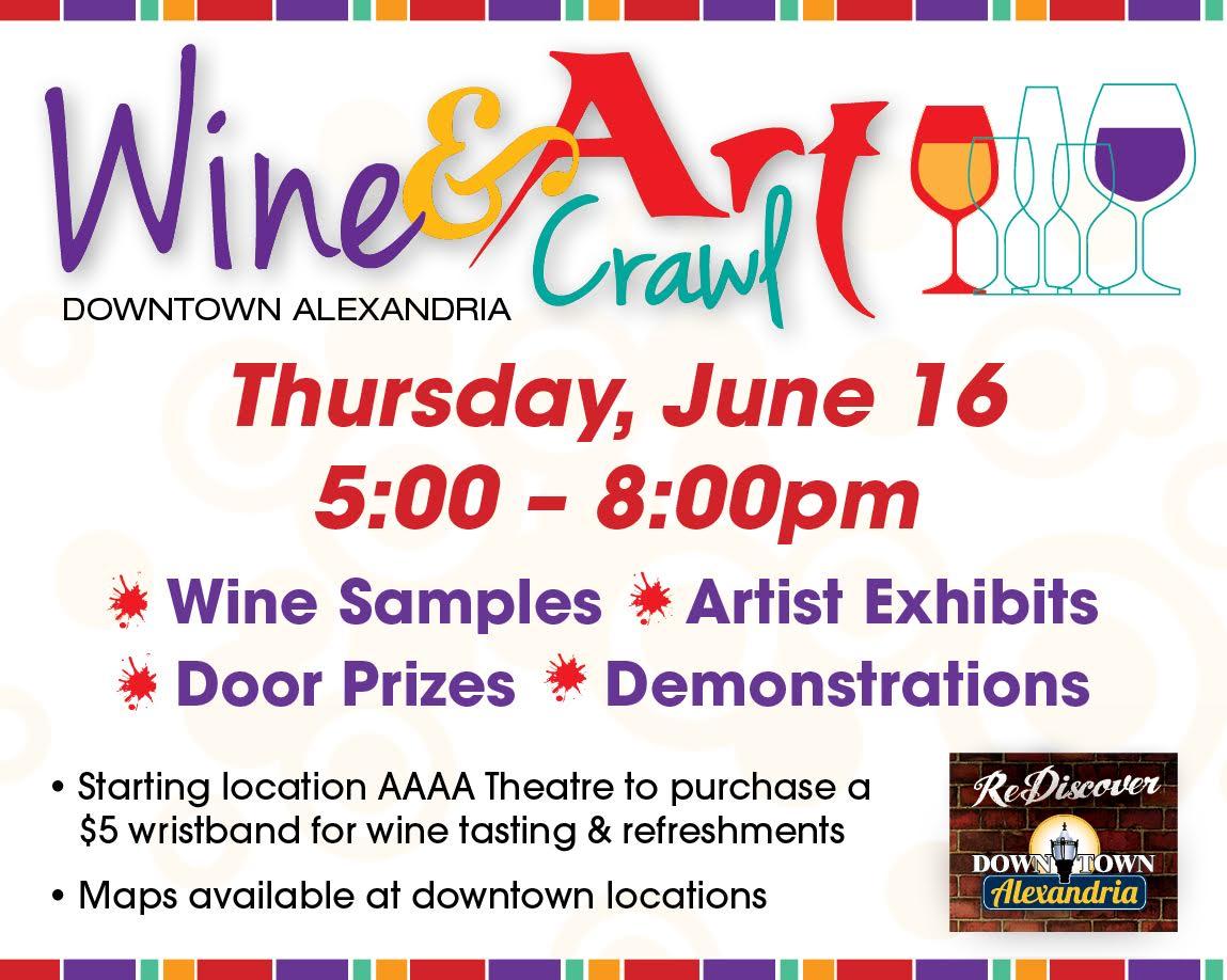 wine and art crawl 2016