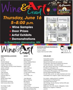 wine and art crawl info