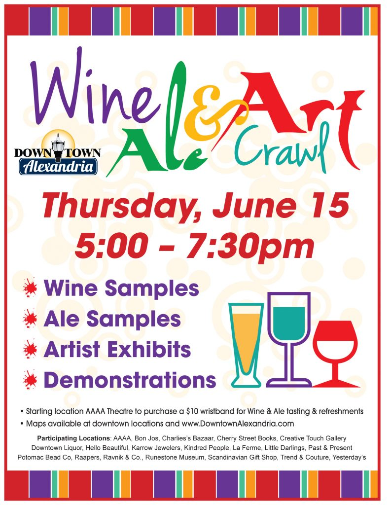 wine ale and art crawl downtown alexandria mn