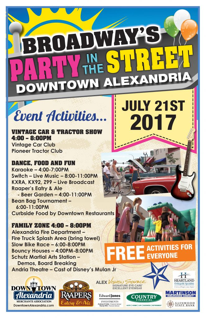 2017 Party in the Street Alexandria MN