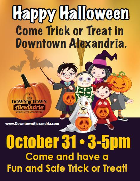 trick or treat downtown alexandria 2017
