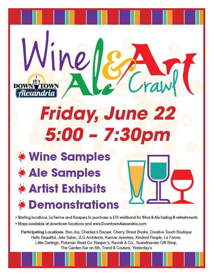 wine and art crawl flyer 2018